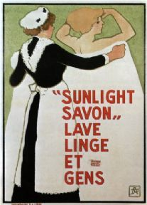 "Vintage French Soap ""Sunlight Savon"" Advertising Poster."